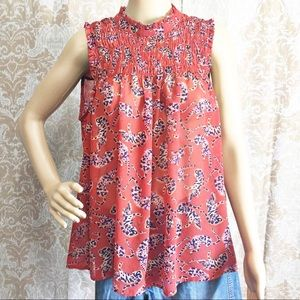 Antropologie MAEVE tank top orange leopard size 12